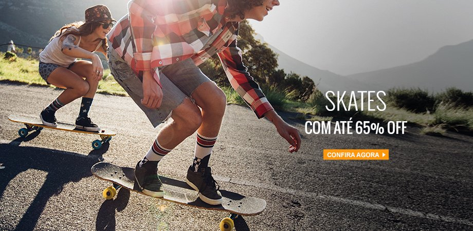 Skates com até 65% OFF